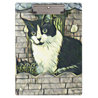 Porte-bloc Kitty noir et blanc 1