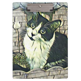 Porte-bloc Kitty noir et blanc 2