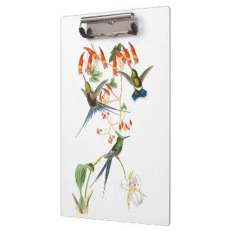 Porte-bloc La faune d'oiseaux de colibri fleurit le porte -