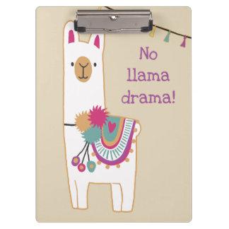 Porte-bloc Lama et glands mignons avec l'arrière - plan fait