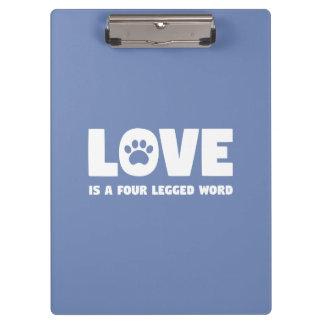 Porte-bloc L'amour est un mot quatre à jambes