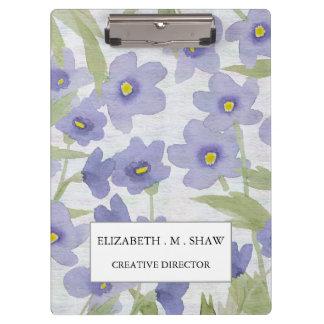 Porte-bloc les oublier--non-fleurs impriment le motif floral