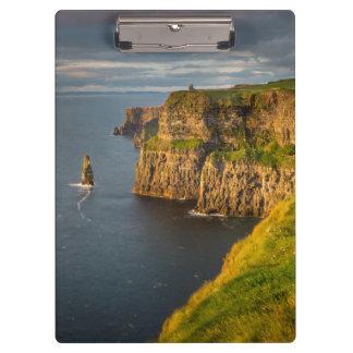Porte-bloc Littoral de l'Irlande au coucher du soleil