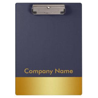 Porte-bloc Logo de Modern Elegant Gold Faux Foil Company