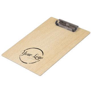 Porte-bloc Logo fait sur commande sur la fibre de bois légère