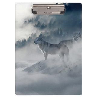 Porte-bloc Loups dans le porte - bloc d'hiver