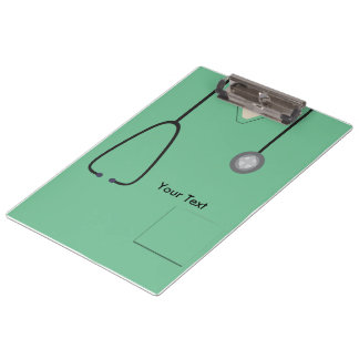 Porte-bloc Médical frotte docteur Nurse Light-green Clipboard