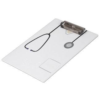 Porte-bloc Médical frotte docteur Steth White Clipboard