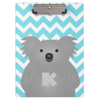 Porte-bloc Monogramme mignon d'ours de koala de bébé de