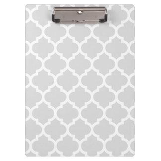 Porte-bloc Motif blanc gris-clair #5 de Quatrefoil de