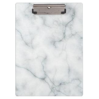 Porte-bloc motif de marbre blanc