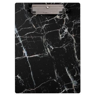 Porte-bloc motif de marbre noir et blanc
