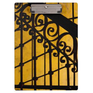Porte-bloc Motif de porte de fer en jaune, Cuba