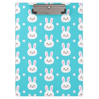 Porte-bloc Motif simple blanc de lapins de Pâques de