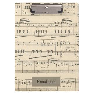 Porte-bloc Musique antique vintage personnalisée