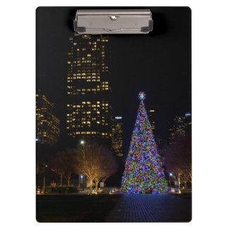 Porte-bloc Noël la nuit parc de terriers