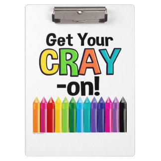 Porte-bloc Obtenez votre Cray sur le professeur d'art fou de