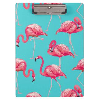Porte-bloc Oiseaux roses de flamant sur l'arrière - plan de