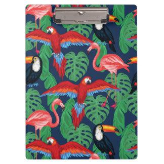 Porte-bloc Oiseaux tropicaux dans des couleurs lumineuses