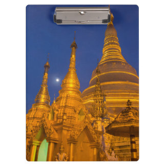 Porte-bloc Pagoda de Shwedagon la nuit, Myanmar