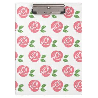 Porte-bloc Panneau d'agrafe avec des roses