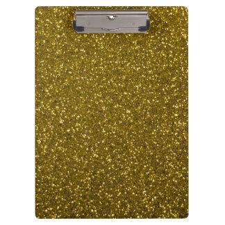 Porte-bloc Parties scintillantes d'or