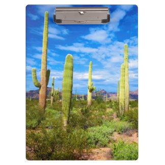 Porte-bloc Paysage de cactus de désert, Arizona