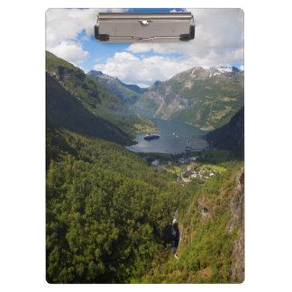 Porte-bloc Paysage de fjord de Geiranger, Norvège