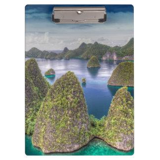 Porte-bloc Paysage d'île de Wayag, Indonésie