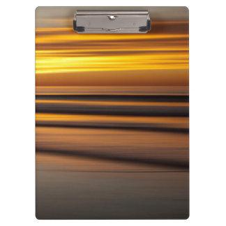 Porte-bloc Paysage marin abstrait au coucher du soleil, CA