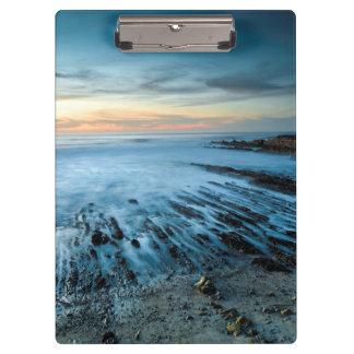 Porte-bloc Paysage marin bleu au coucher du soleil, la