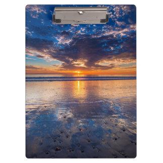 Porte-bloc Paysage marin dramatique, coucher du soleil, CA