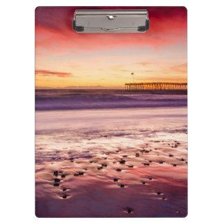 Porte-bloc Paysage marin et pilier au coucher du soleil, CA