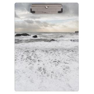 Porte-bloc Paysage marin mousseux pâle d'océan, Islande