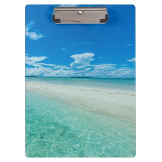 Porte-bloc Paysage marin tropical bleu, Palaos