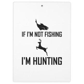 Porte-bloc Pêche alors de la chasse