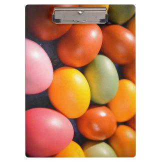Porte-bloc Photo colorée de coutume d'oeufs de pâques