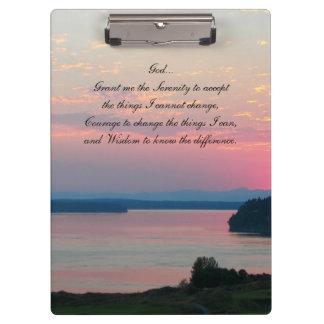 Porte-bloc Photo de paysage marin de rose de prière de