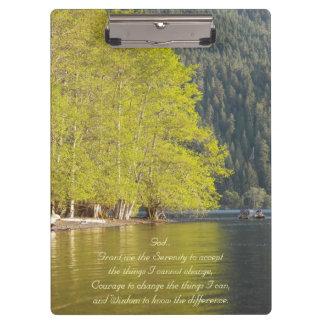 Porte-bloc Photo de réflexion de lac prayer de sérénité