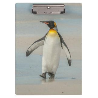 Porte-bloc Pingouin marchant sur la plage
