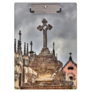Porte-bloc Plan rapproché croisé de cimetière, Portugal