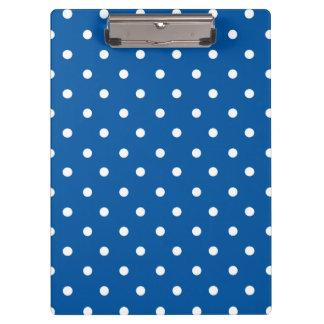 Porte-bloc Pois bleu et blanc