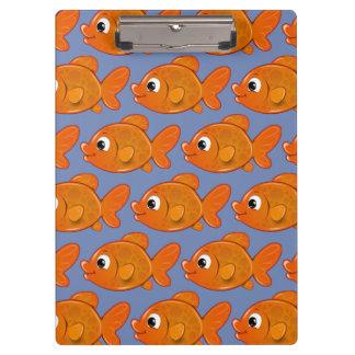 Porte-bloc Poissons oranges mignons de personnaliser
