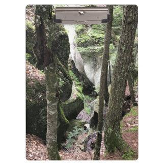 Porte-bloc Porte - bloc avec la belle image des bois