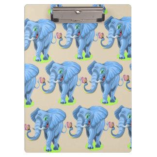 Porte-bloc Porte - bloc bleu mignon d'éléphant de