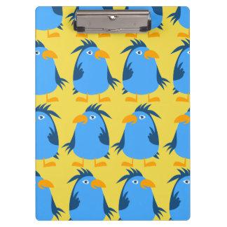 Porte-bloc Porte - bloc bleu mignon d'oiseau de personnaliser