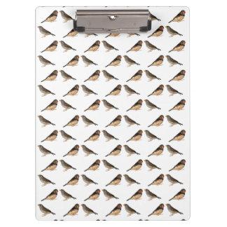 Porte-bloc Porte - bloc de frénésie de pinson de zèbre