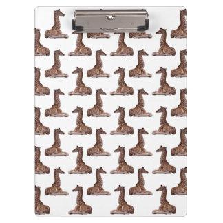 Porte-bloc Porte - bloc de girafe de bébé (choisissez la