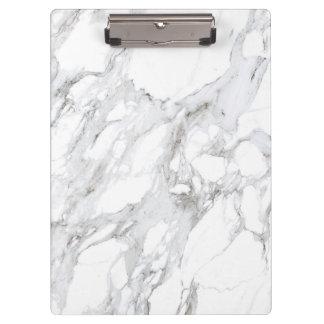 Porte-bloc Porte - bloc de marbre blanc