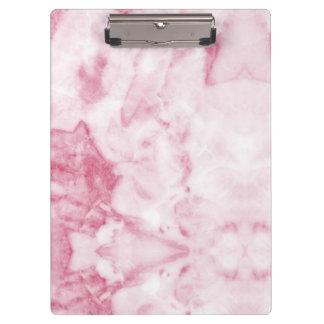 Porte-bloc Porte - bloc de marbre rose